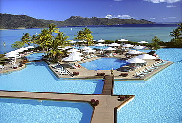 Freshwater swimming pool on Hayman Island, Whitsunday Islands, Queensland, Australia