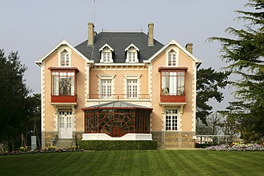 FRA, France, Normandy, Grandville: Garden and museum of the house of Christian Dior.