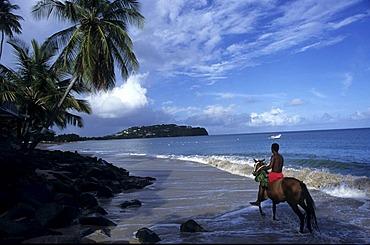 LCA, Saint Lucia: the Choc Bay near Castries, Point Seraphine.