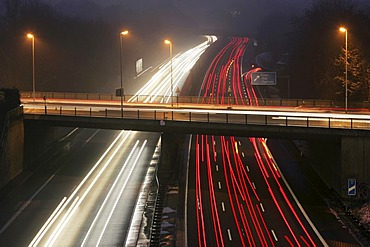 DEU, Germany : Essen, motorway Autobahn A52. Rushhour in the evening.