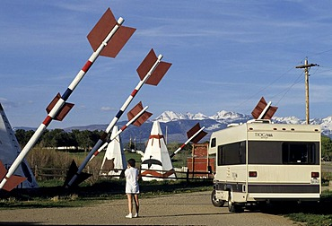 USA, United States of America, Colorado: Traveliing in a Motorhome, RV, through the west of the US.