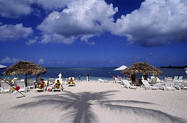 BHS, Bahamas, New Providence, Nassau:Breezes Hotel, Beach. Independent state in the West Indies, member of Comonwealth of Nations.