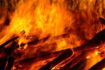 DEU, Germany, Darss: Easter fire in the village of Ahrenshoop.