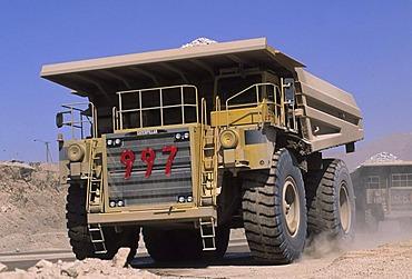 CHL, Chile, Atacama Desert: the Chuquicamata copper mine near Calama.