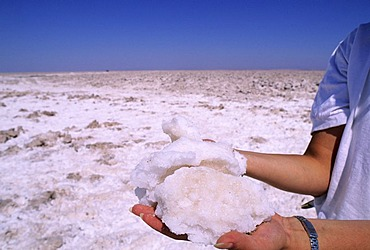 CHL, Chile, Atacama Desert: salt lake Salar de Atacama.