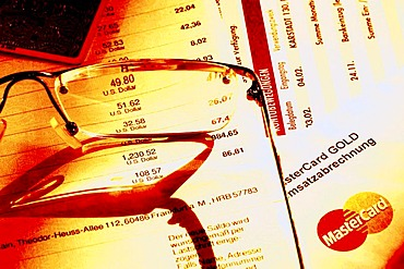 DEU, Germany : Monthly credit card invoice. Symbolic photo economy