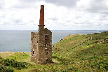 Former mine house, battlement mine near, Rinsey, Cornwall, UK