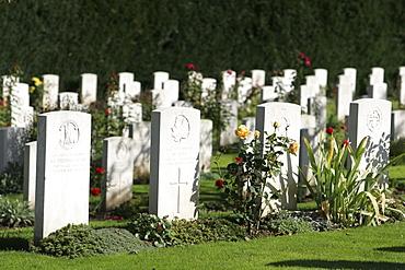 Gravestones, military cemetery, Cologne, North Rhine-Westphalia, Germany