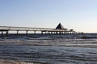 Pier, Heringsdorf seaside resort, Usedom Island, Baltic Sea, Mecklenburg-Western Pomerania, Germany, Europe