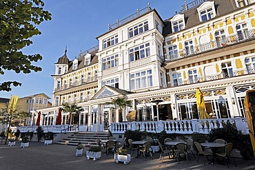 Ahlbecker Hof Hotel, Ahlbeck seaside resort, Usedom Island, Baltic Sea, Mecklenburg-Western Pomerania, Germany, Europe
