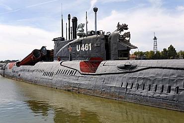 Peenemuende Maritine Museum, decommissioned Russian submarine U461, Usedom Island, Mecklenburg-Western Pomerania, Baltic Sea, Germany, Europe
