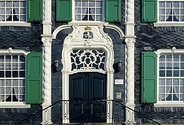 Rococo portal, local heritage museum, Remscheid-Hasten, Bergisches Land, North Rhine-Westphalia, , Germany