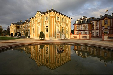 Wing building, garden front, castle Bruchsal, district Karlsruhe, Baden-Wuerttemberg, Germany
