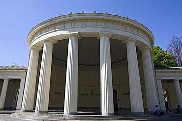 Elisenbrunnen, classicistic column porch, Aachen, NRW, Germany