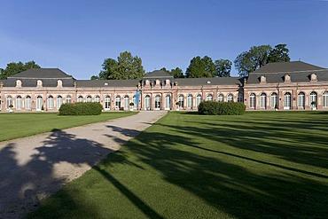 Northern circle building, Castle Schwetzingen, Baden-Wuerttemberg, Germany