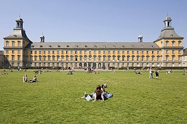 Castle of the prince electors, university Bonn, view from the gardens, NRW, Germany