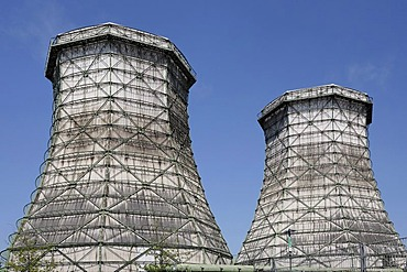 Cooling tower of a power station, Duesseldorf, NRW, Germany