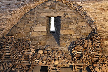 Charnel house at the historic under church, Benedictine convent Altenburg near Horn, Lower Austria