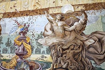 Fresco at tritons room, Benedictine convent Altenburg near Horn, Lower Austria