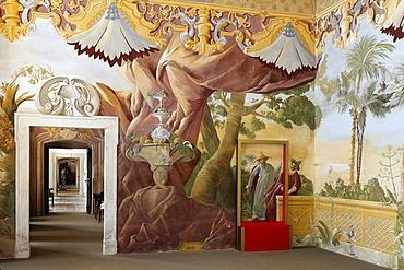 Chinese room, sala terrena, Benedictine convent Altenburg near Horn, Lower Austria