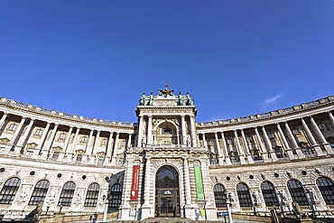 New Hofburg, view from the Burggarten, Vienna, Austria