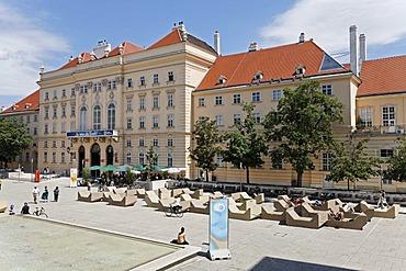 Courtyard of the Museumsquartier, Vienna, Austria