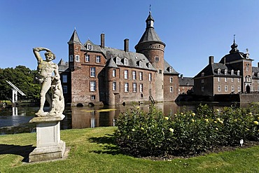 Moated castle Anholt, Isselburg, Westpahlia, NRW, Germany