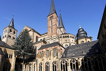 Cathedral of Trier, view from the Gothic cloisters, Rhineland-Palatinate, Germany