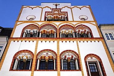 Gothic Three-Kings-House, Trier, Rhineland-Palatinate, Germany