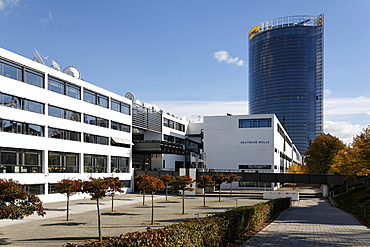 Head office of the German radio station Deutsche Welle, Schuermann building, Bonn, NRW, Germany,