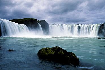 Godafoss Waterfall, Iceland, Atlantic Ocean
