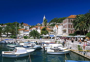Harbour, Hvar, Hvar Island, Dalmatia, Dalmatian Coast, Croatia
