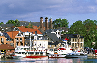 Town of Kappeln on the Schlei River, Schleswig-Holstein, Germany, Europe