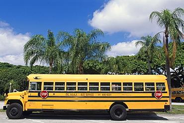 School bus, Coral Gables, Miami, Florida, USA