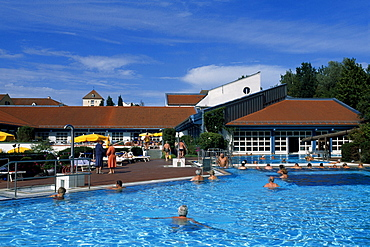 Thermal pool, Wohlfuehltherme, Feel Good thermae, Bad Griesbach, Lower Bavaria, Germany, Europe
