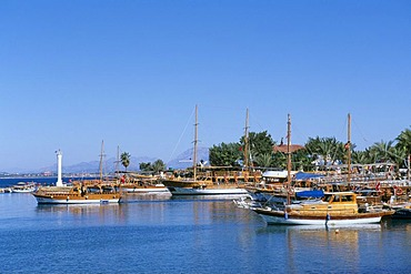 Harbour, Side, Turkish Riviera, Turkey, Eurasia