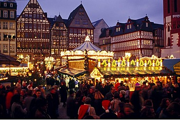 Christmas market at the Roemer, Frankfurt, Hesse, Germany, Europe