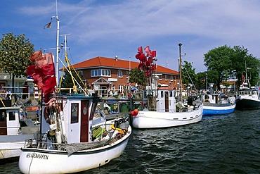 Heiligenhafen Harbour, Schleswig-Holstein, Germany, Europe