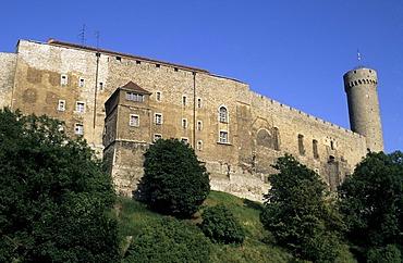 "Castle with tower ""Pikk Hermann"" (Tall Hermann), Tallinn, Estonia"