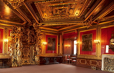 Golden Hall, Bueckeburg Castle, Bueckeburg, Lower Saxony, Germany, Europe