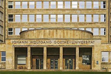 Johann Wolfgang Goethe University in Frankfurt, Hesse, Germany