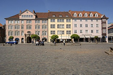 Town houses at the old town market, Braunschweig, Lower Saxony, Germany