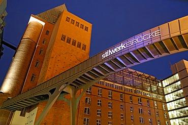 Footbridge at Stilwerk department stores at Hamburger Fischmarkt Hamburg Germany