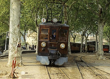 Railroad at Soller, Mallorca, Spain