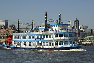 Steamboat Louisiana Star at Hamburg Harbour Germany