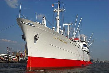 Museum ship Cap San Diego in Hamburg during the 817th anniversary of Hamburg Harbour, Hamburg, Germany