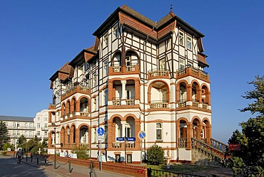 Typical local architecture - Hotel Schloss am Meer in Kuehlungsborn, Western Pomerania, Germany