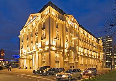 Casino Esplanade, new gambling house of Spielbank Hamburg Company at dusk, Hamburg, Germany