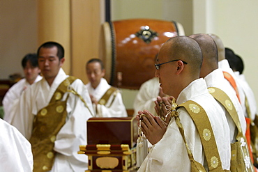 Concert in the Daiseion-Ji temple, Wipperfuerth, North Rhine-Westphalia, Germany
