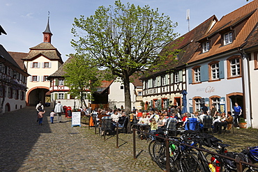 Historic centre of Vogtsburg-Burkheim, Kaiserstuhl, Baden-Wuerttemberg, Germany, Europe